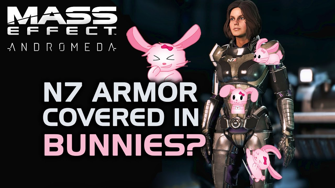 N7 Armor Mass Effect Andromeda: N7 Armor Covered In Bunnies
