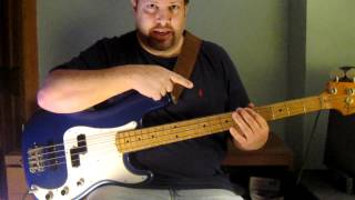 White Wedding (by Billy Idol) - Bass Guitar Lesson How to Play