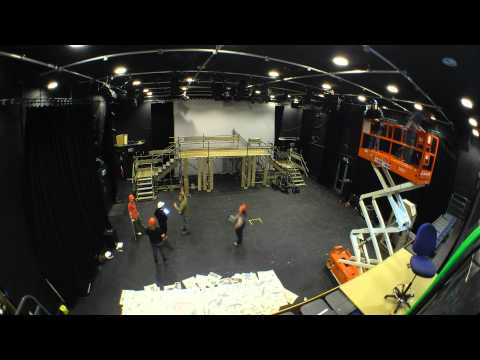 Dracula Stage Set Building - Time Lapse - Hull College