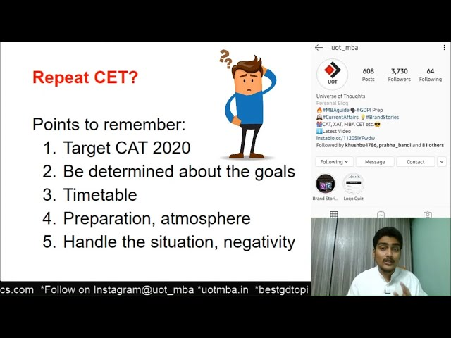 Repeat MBA CET 2020? Realize your Worth | Should I take a drop and give CAT 2020?