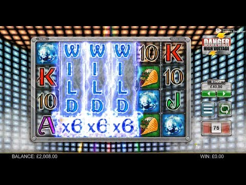 Danger High Voltage Big Win £40 Spins 3x6 Wilds Roll in