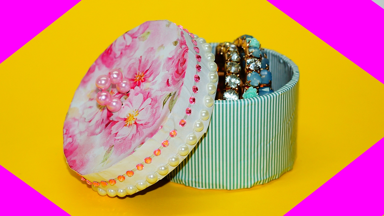 Diy Jewelry Box Gift Box Recycling Cardboard Gift Box Ideas Easy Jewelry Storage Box Julia Diy Youtube