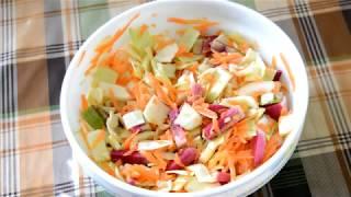 """Как приготовить витаминный салат из капусты и редьки """"Яркая осень"""""""
