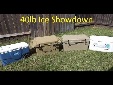 Yeti vs Cabela's Polar Cap vs 2 Coleman Xtreme Cooler Ice Test