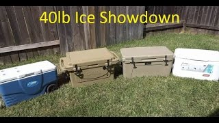 Yeti vs Cabela's Polar Cap vs 2 Coleman Xtreme Cooler Ice Test