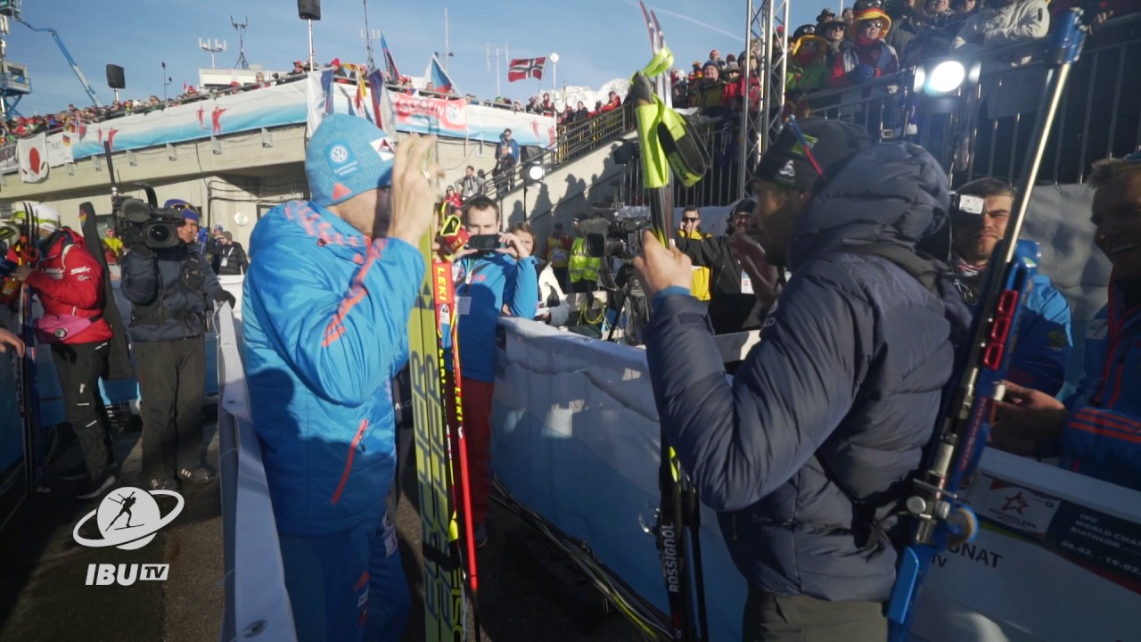 #Hochfilzen2017: Handshake between Shipulin and Fourcade