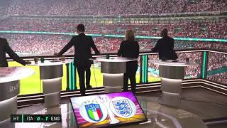 BRILLIANT - KEANE, GĄRY NEVILLE & IAN WRIGHT REACTION TO LUKE SHAW GOAL! - ENGLAND/ITALY - EURO 2020