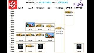 Planning de la semaine du 18 au 25 Septembre