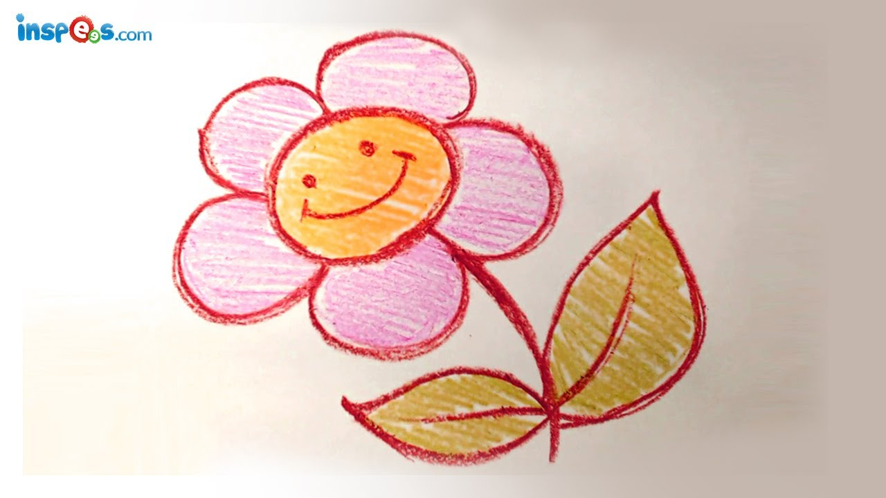 how to draw a cute out flower