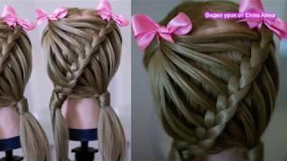 🎀Детская причёска  БЫСТРО и ПРОСТО 🎀 Коса в школу Hair tutorial Trenza