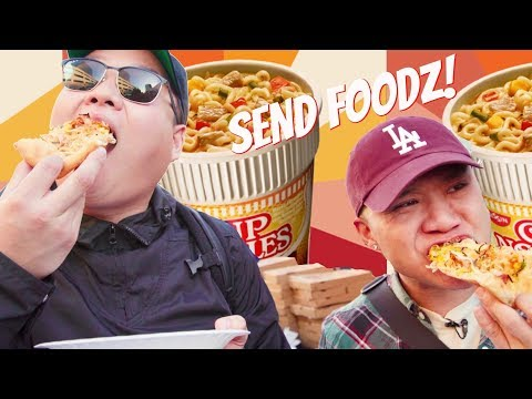 SEND FOODZ Ep #1 - Cup Noodles Pizza feat. David So