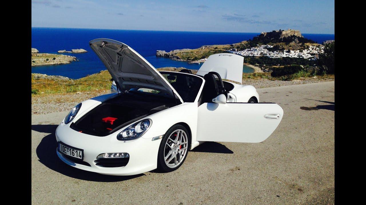 Porsche Boxster S Luxury Rent a Car Rhodes Rodos