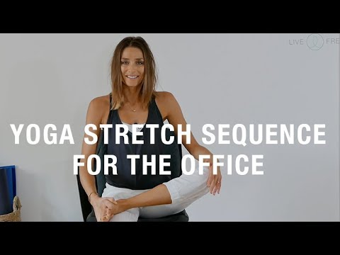 live free office chair yoga flow - youtube
