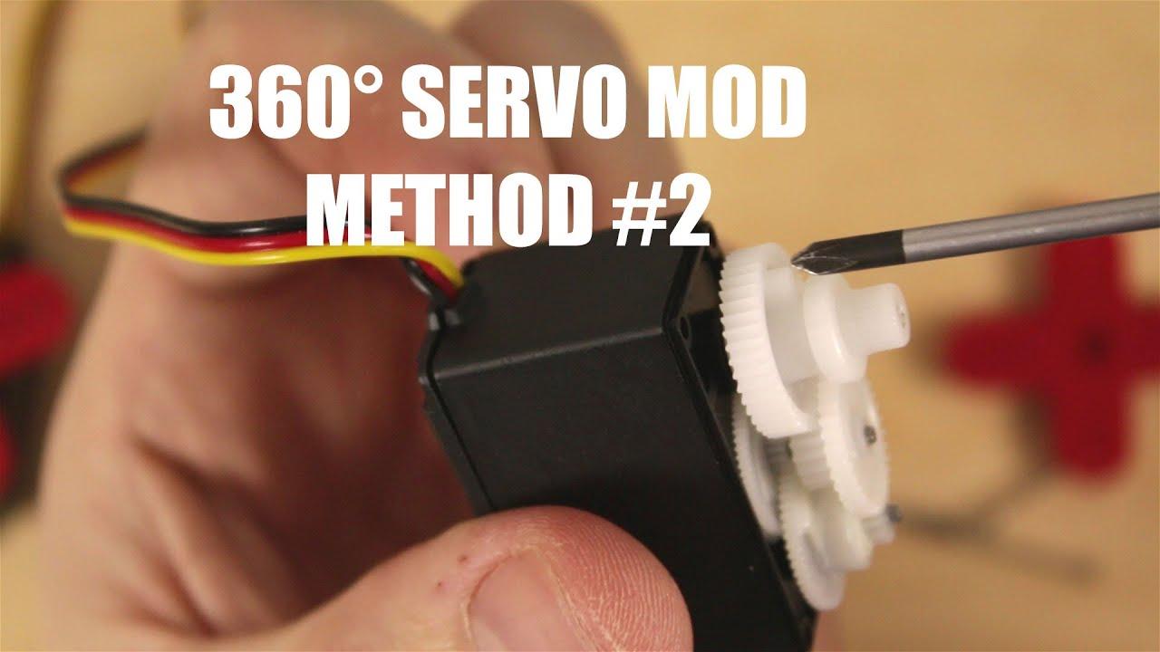 How to make servo 360° degree continuous servo rotation Mod Method 2
