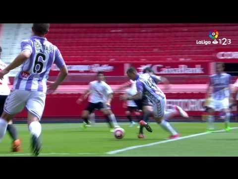 Resumen de Sevilla Atlético vs Real Valladolid (6-2)