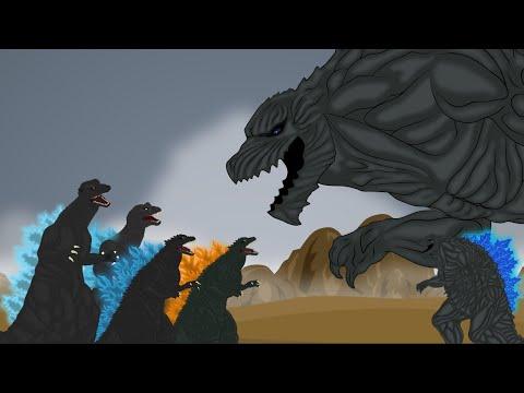 GODZILLA WAR SS1 Part 3 : Godzilla Millenium Vs Godzilla Earth L Godzilla Animation