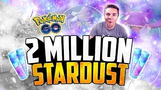 Pokemon Go - 2 MILLION STARDUST POWER-UP! (SHINY KYOGRE!)