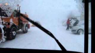 Schneesturm Oberwiesenthal-Fichtelberg  Busfahrt 05.01.12