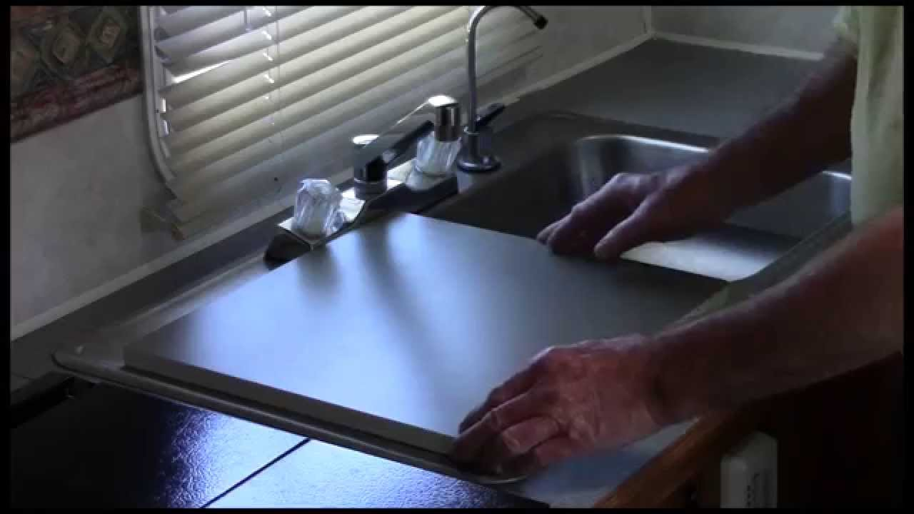 Rv Kitchen Sink Dark Blue Cabinets Top Youtube