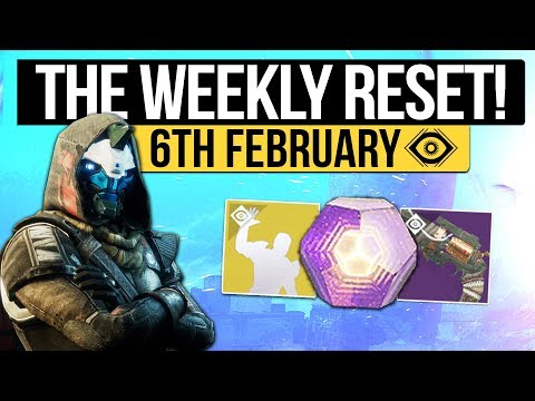 Destiny 2 | WEEKLY RESET! - Bungie Updates, Activities, Nightfall & Vendor Stock (6th February 2018)