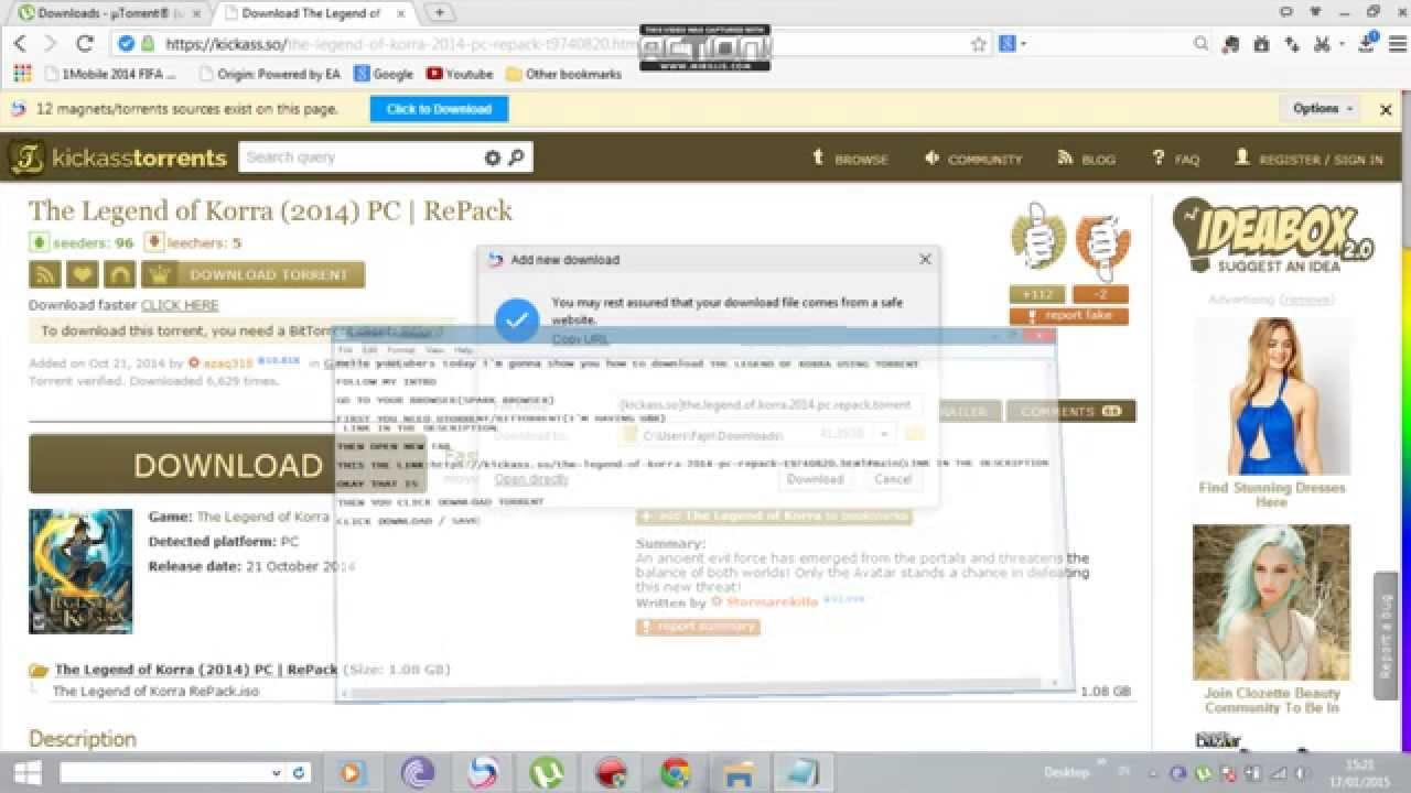 avatar korra torrent download