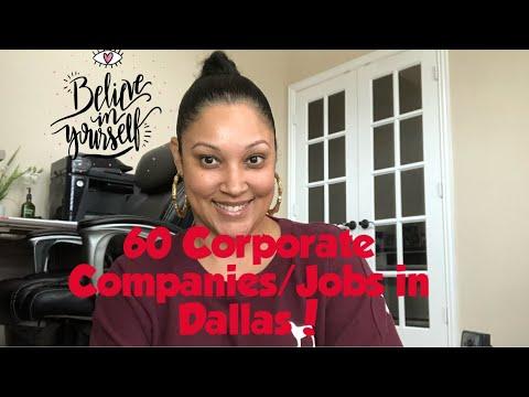 60 Corporate Companies/Jobs In Dallas, Texas! #Jobs #dallas #dfw #hiring #howto #career