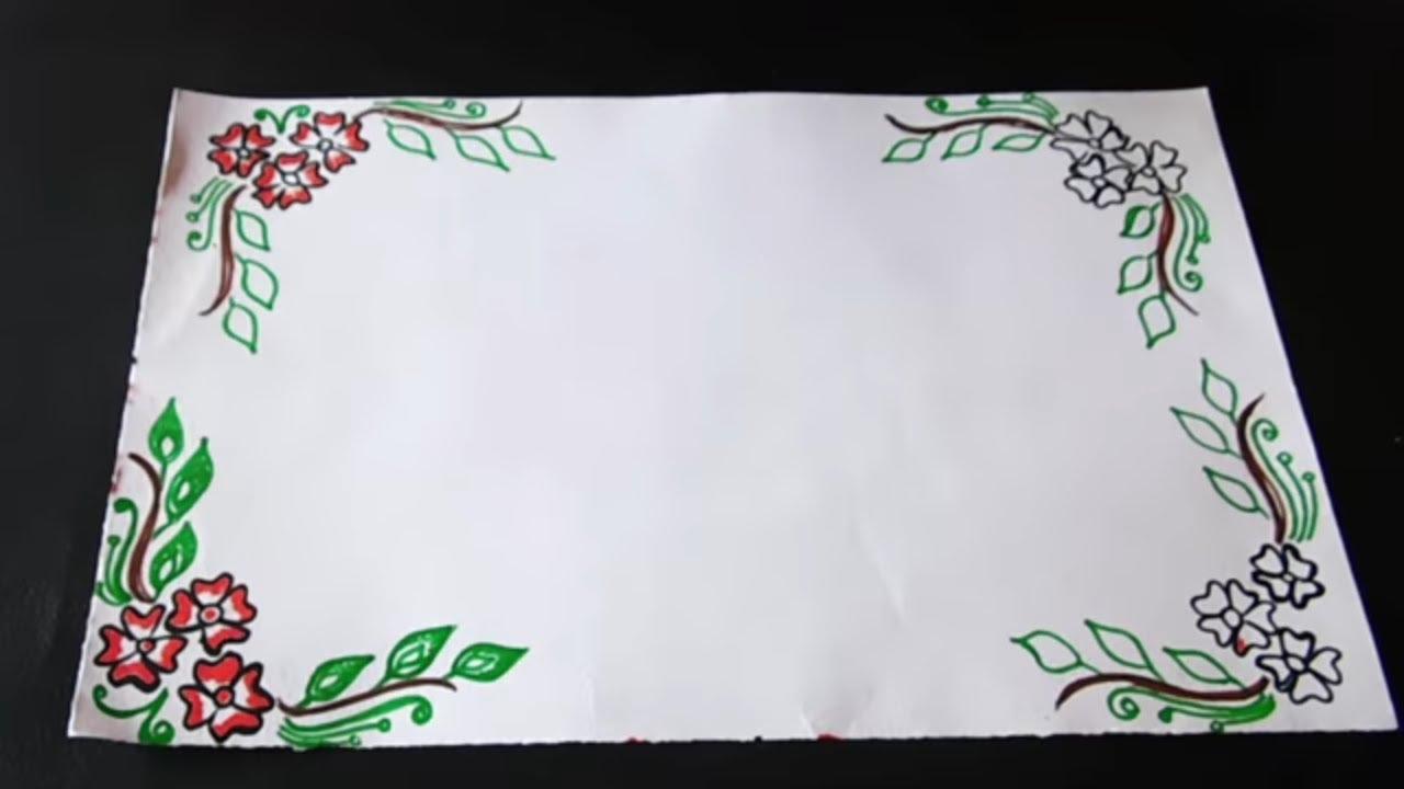 Border Design For Kids Amazing Border Design On Paper Lates
