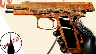Restoration of the military pistol ruined by the rust - Bernardelli P. 018s 9 mm Restoration