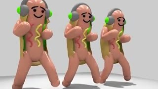 Hot dogs dancing to Wild Thoughts
