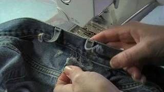 Jeans Belt Loop Repair