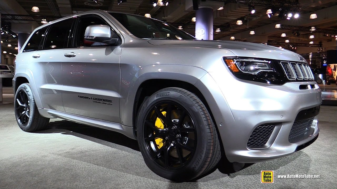 2018 jeep interior. Unique Jeep 2018 Jeep Grand Cherokee TrackHawk  Exterior And Interior Walkaround  Debut At 2017 NY Auto Show Intended Jeep Interior