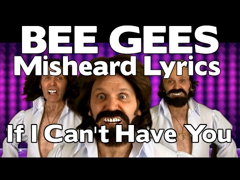 NEW - Bee Gees Misheard Lyrics - If I Cant Have You