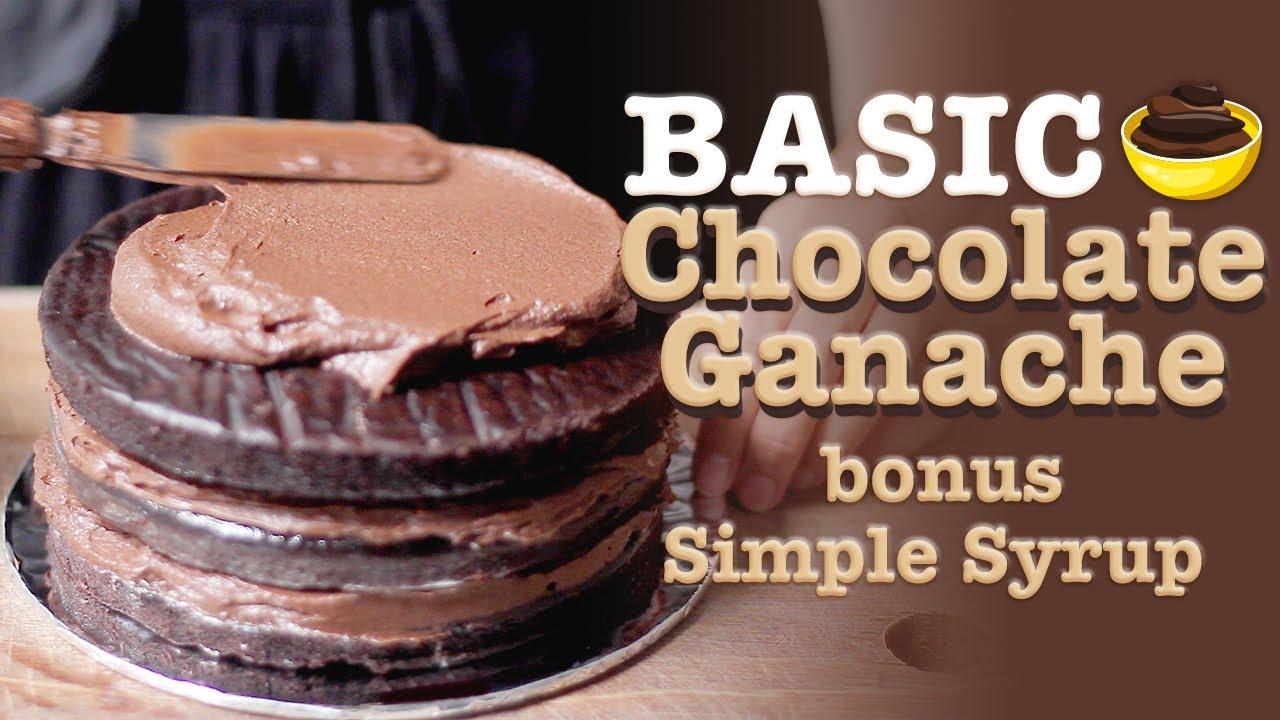 Resep Krim Coklat Ganache Bonus Resep Simple Syrup Chocolate Ganache Recipe Youtube