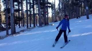 Ava Grace Baumanm skiing at Lake Eldora