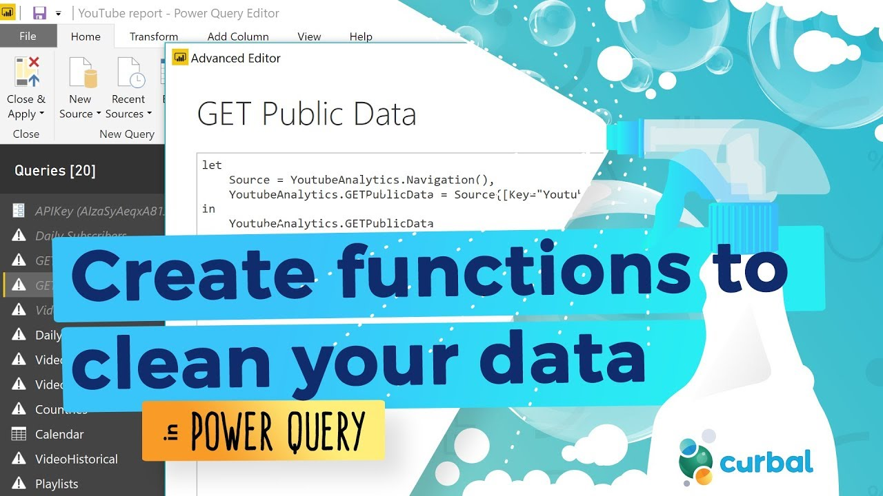 Create functions to clean your data - Part 6: Power Query Challenge