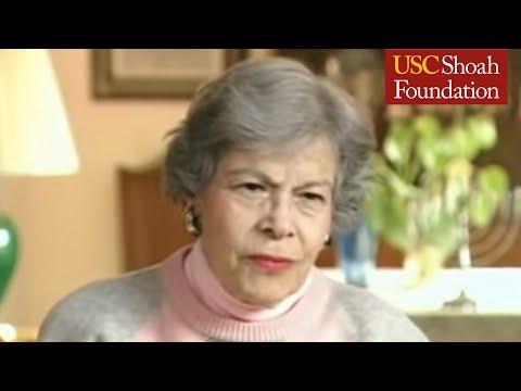 Jewish Survivor Diana Golden Testimony