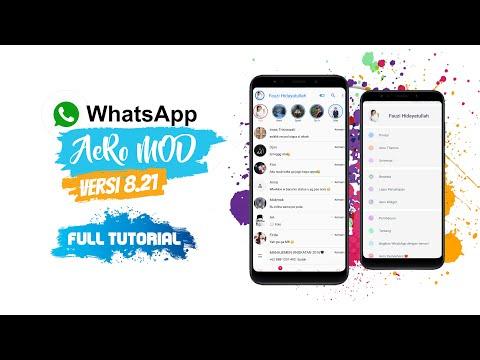 WhatsApp AERO New Version 8.21 | Full Tutorial dan Cara Setting!