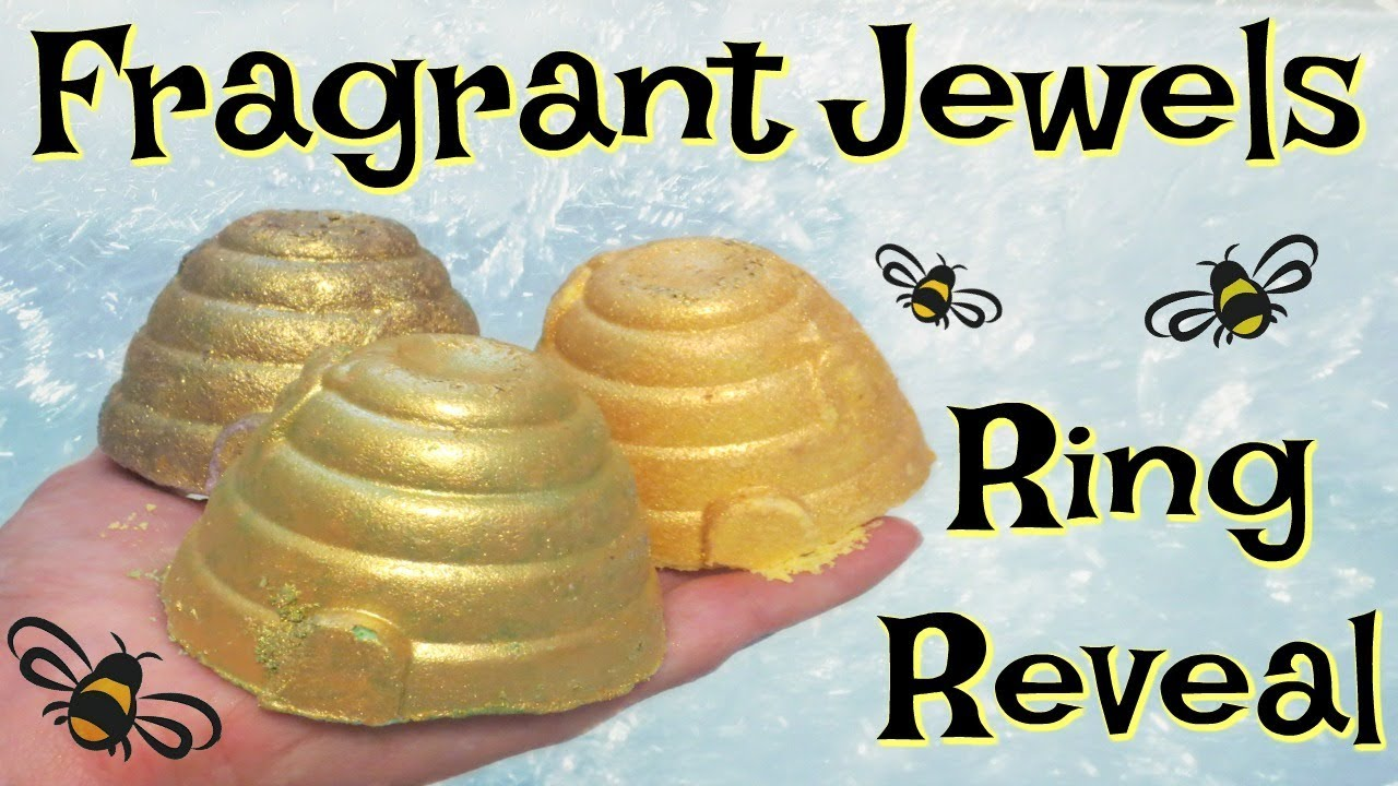 Fragrant Jewels Ring Reveal - Bee My Honey Rare Bath Bomb Trio!