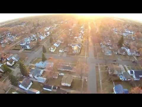 Flight over Windemere Ave - Flint, MI