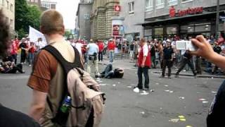 WM 2006 Hooligan Randale in Dortmund vor dem Spiel Deutschland - Polen