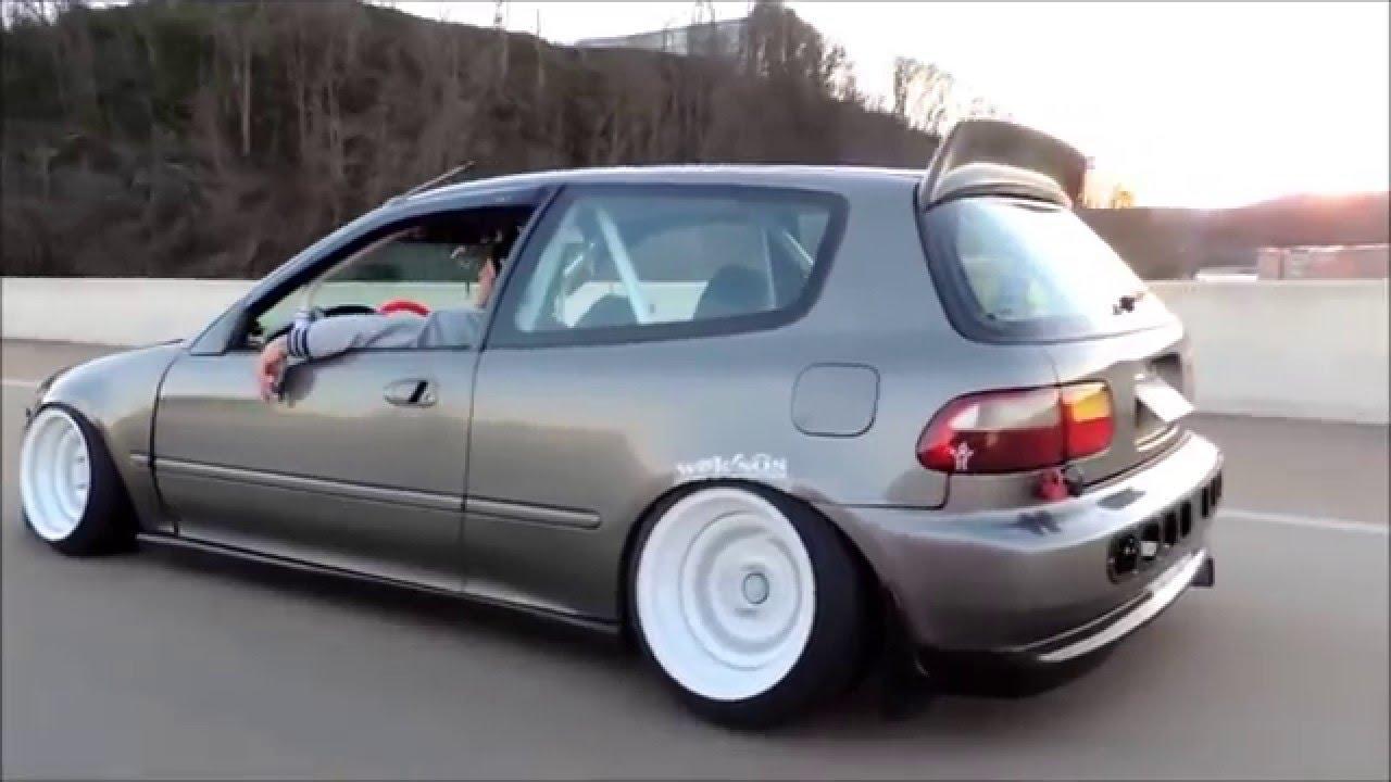 Low Stance Static Honda Civic - YouTube