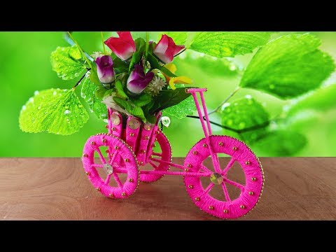 🚲Best Out Of Waste Bangles Craft Ideas🌸Diy Arts and Crafts💗Woolen Craft💚Old Bangles Reuse💙