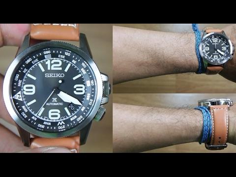 Seiko Automatic Prospex Black Strap Dial Srpa75k1 Unboxing Leather qMpVUzS