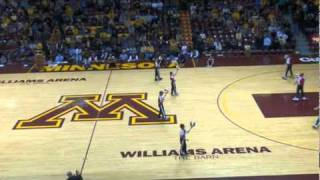Alexandria Aces performing at halftime of the Minnesota Golden Gophers Mens