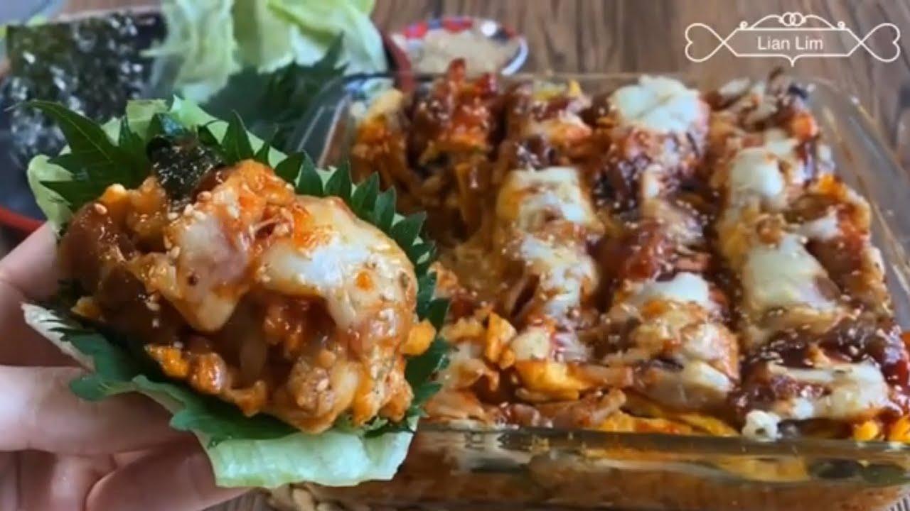 BAKED SAMGYEOPSAL TRENDING!! CHEESY BAKED SAMGYEOPSAL👌