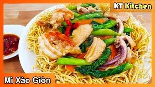 MÌ XÀO GIÒN - Chia Sẽ Bí Quyết Làm Mì Xào Giòn Ngon Của Nhà Hàng || Seafood Crispy Egg Noodles