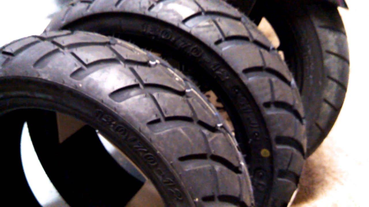 New Tires For My Honda Grom 2014 Kenda K761 Dual Sport Youtube