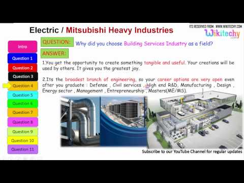electric mitsubishi | heavy Industries important interview questions and answers for freshers