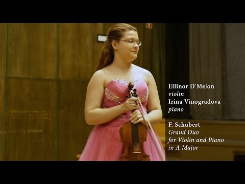 Ellinor D'Melon plays F. Schubert's Grand Duo for Violin and Piano in A major