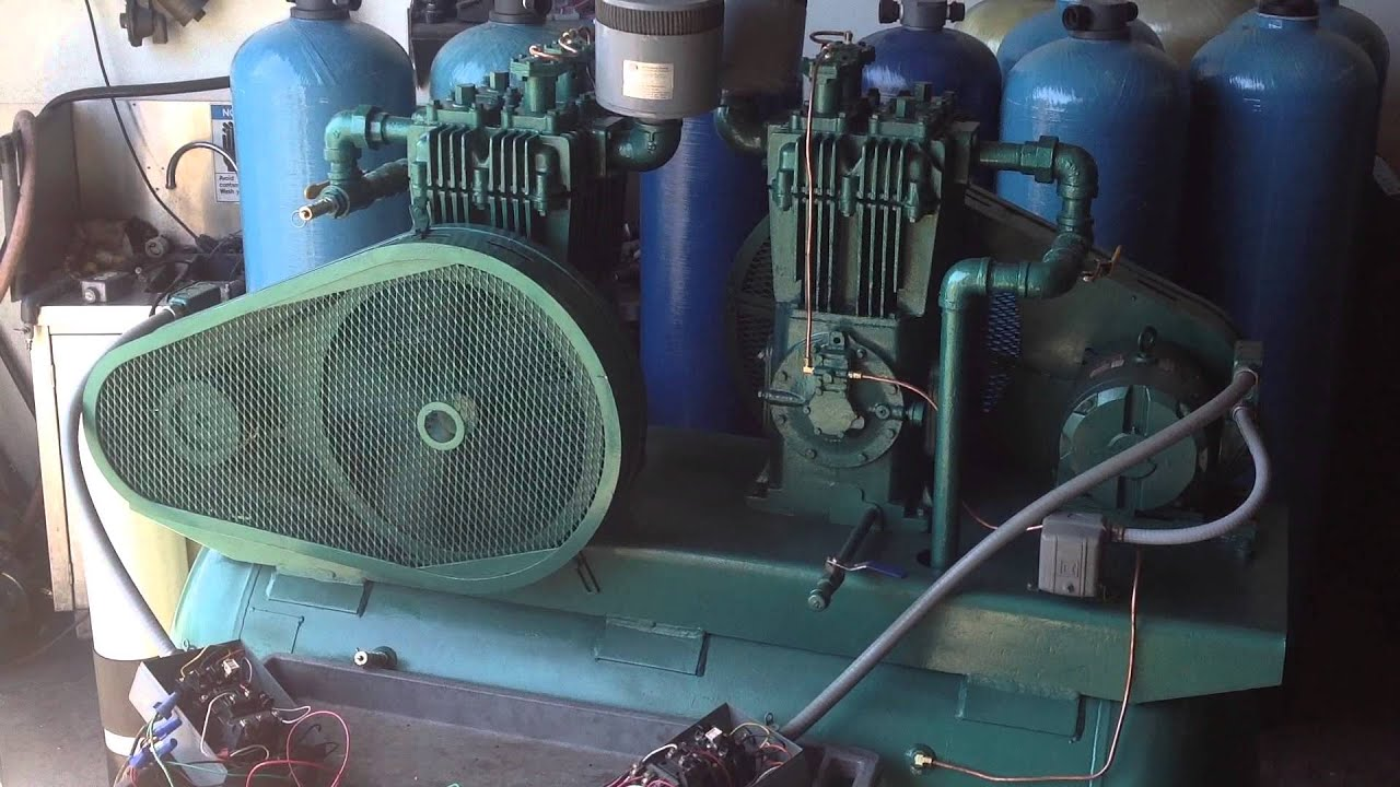 Duplex Air Compressor Quincy Wiring Diagram Youtube 1920x1080